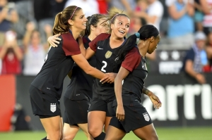 Alex Morgan and Mallory Pugh. Morgan's two goals mark her 18th career multi-goal game. Pugh's assist was her team leading sixth of 2016.
