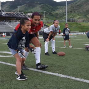 Jen Welters Football Camp Gallery